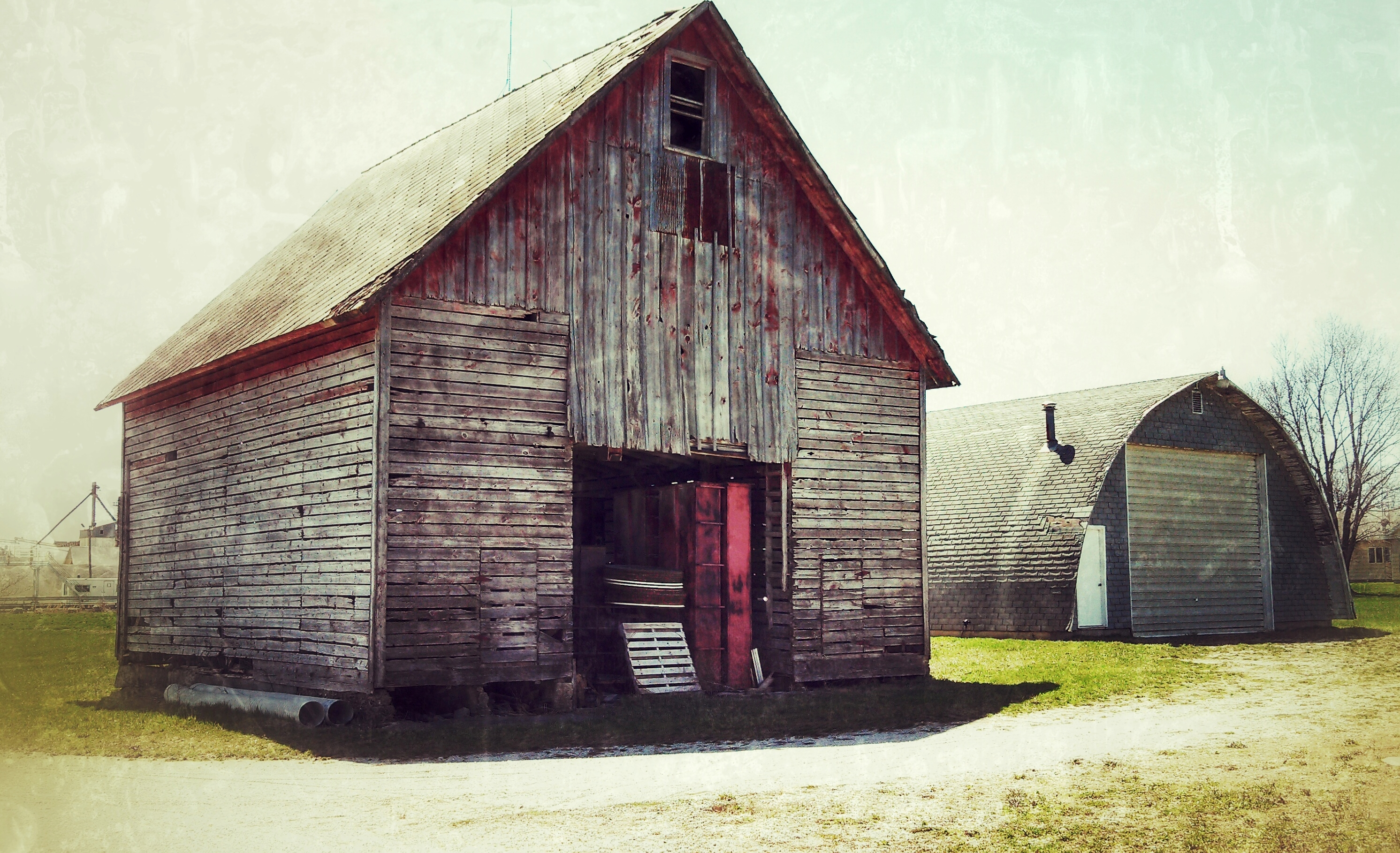 red shed, livingston county