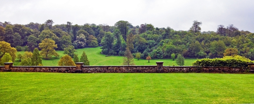 chartwell house wall and pasture