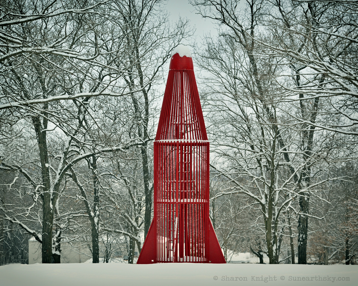 Red Rocket In Snow
