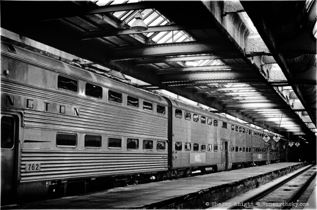 Chicago Union Station train mono