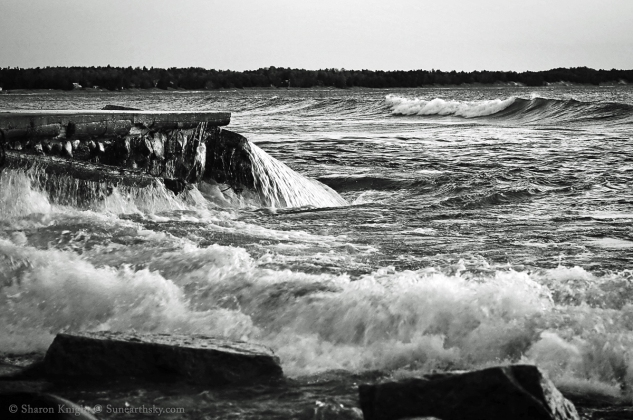 waves over pier 2