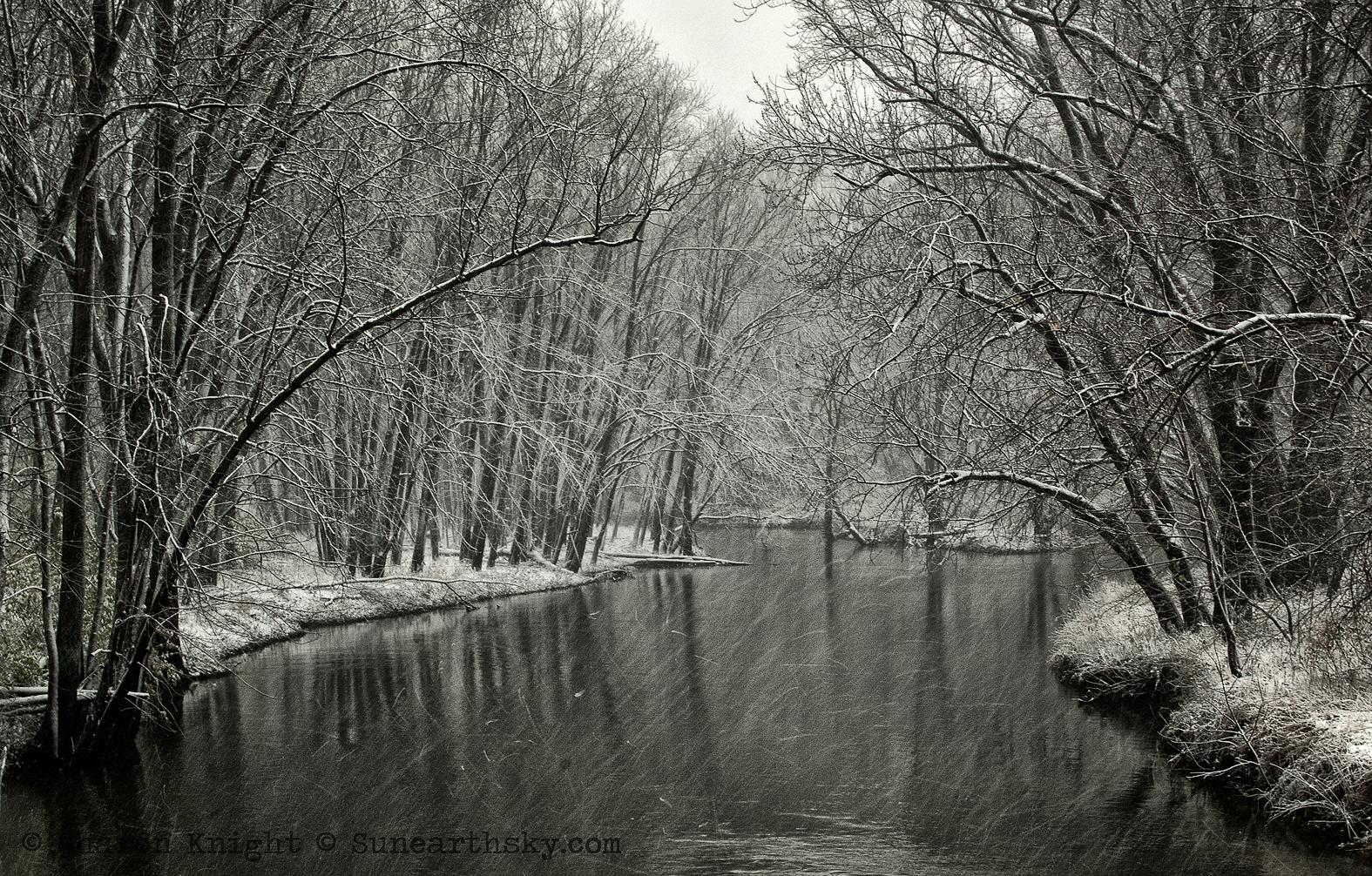 first snow, lamoine river 2b