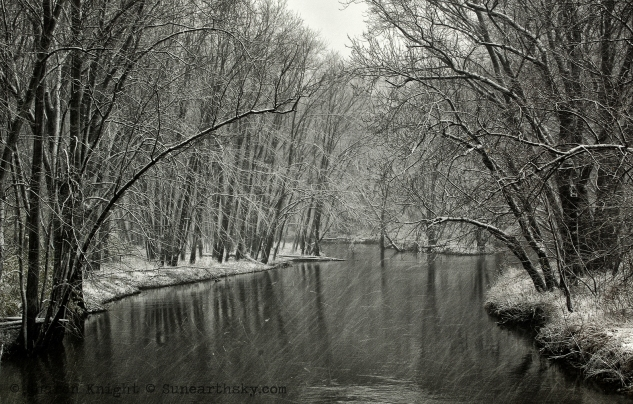 first snow, lamoine river 2b